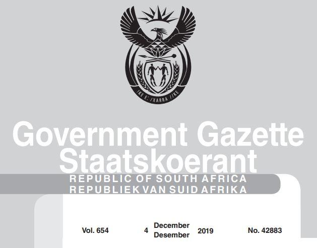 Goverment Gazette Notice No.42883_BANNING OF AUCTIONS